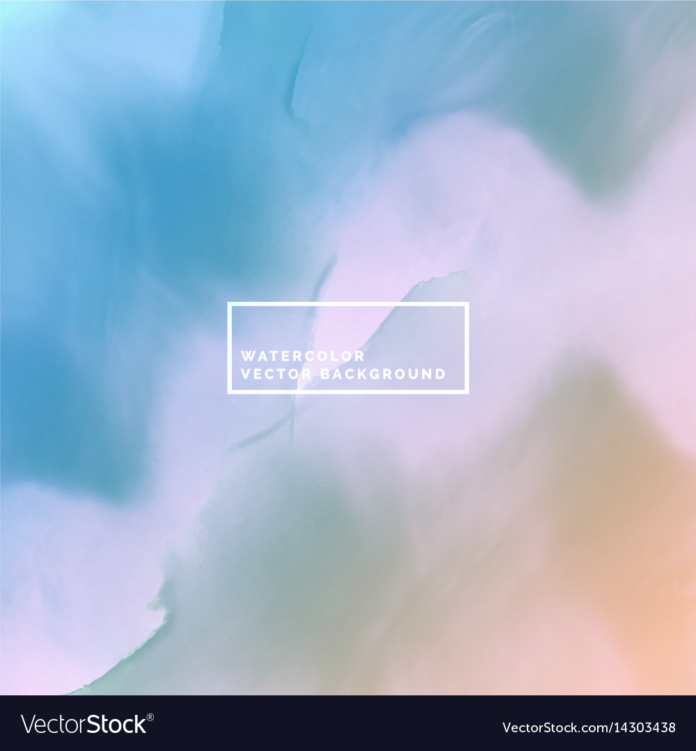 Water color background in soft colors vector image