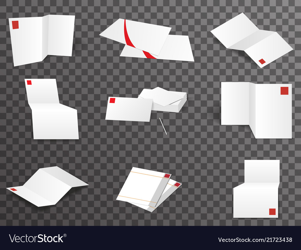 White paper template set different points of view