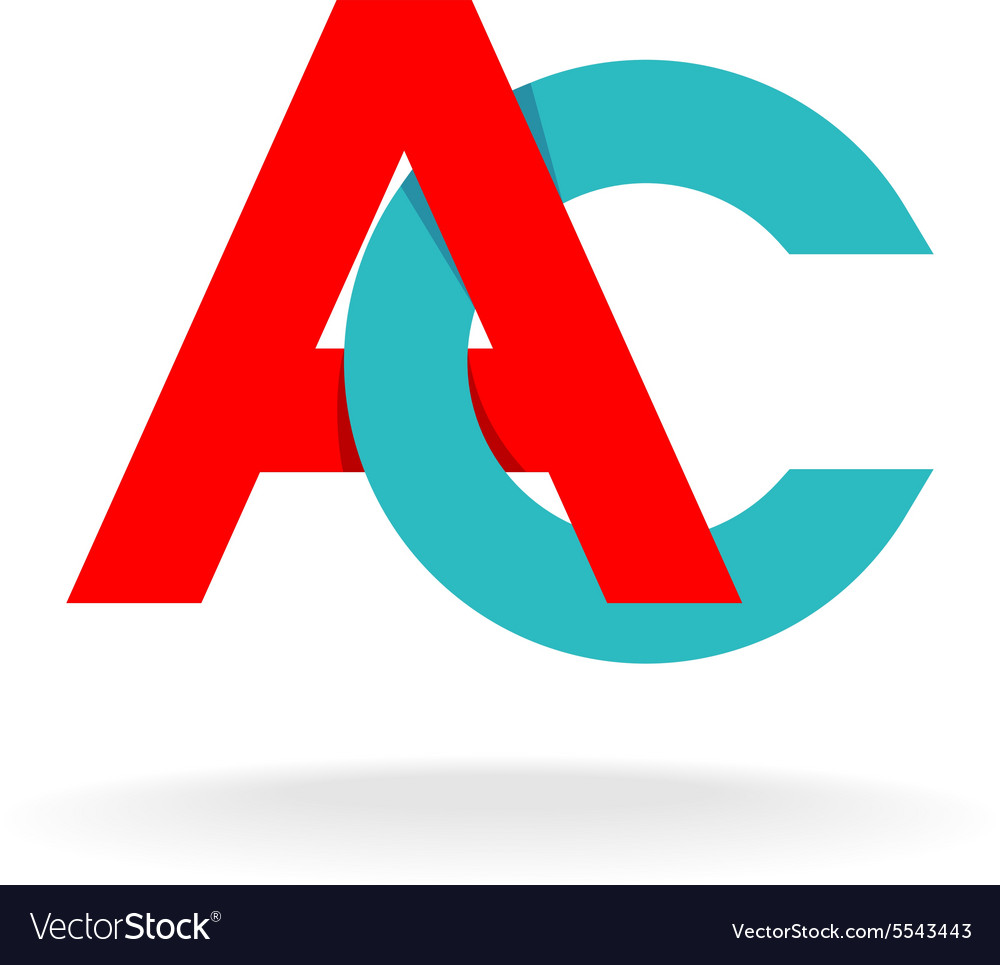 A and c letters logo