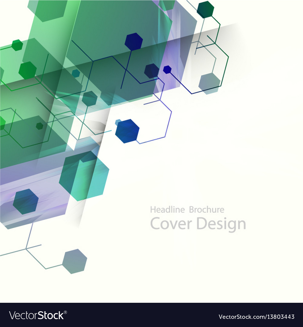 Abstract hexagon background technology