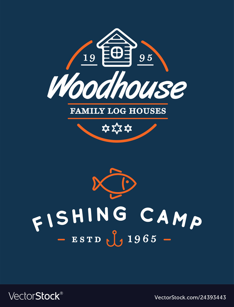Camping logos templates design elements and