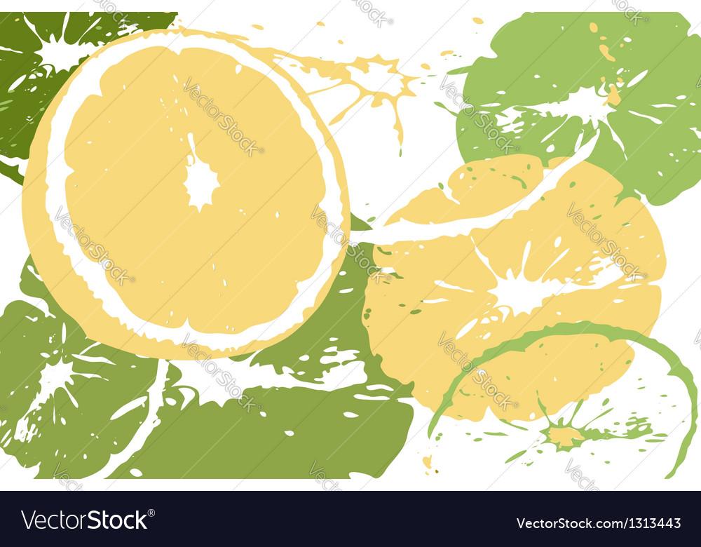 Citrus abstract backdrop