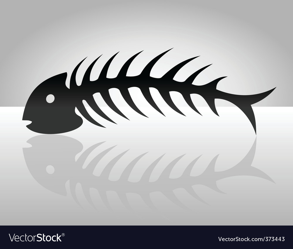 Fish bone2 vector image