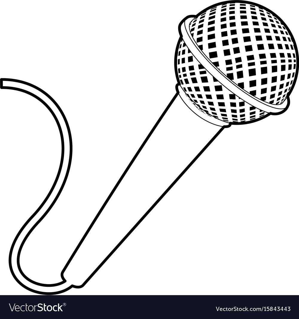 первая солистка картинка контур микрофона ведь