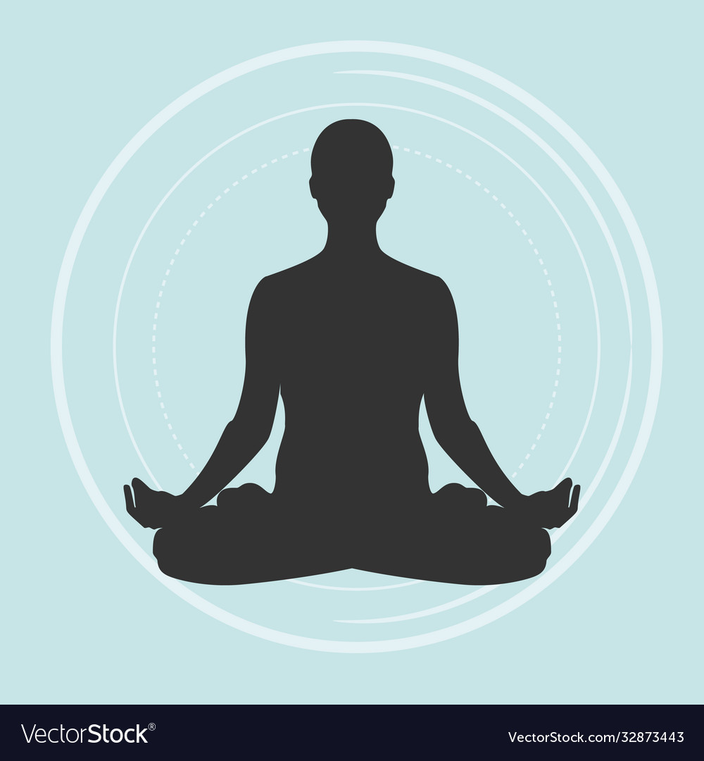 Practicing yoga meditating