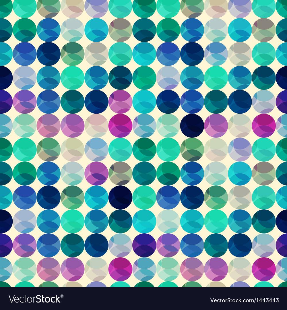 Seamless circle polka dots texture