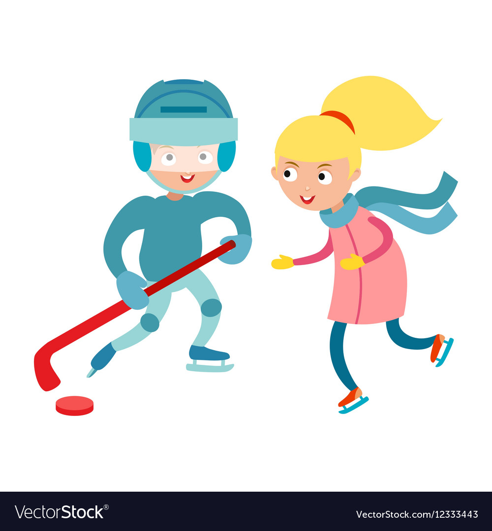 Sport children vector image