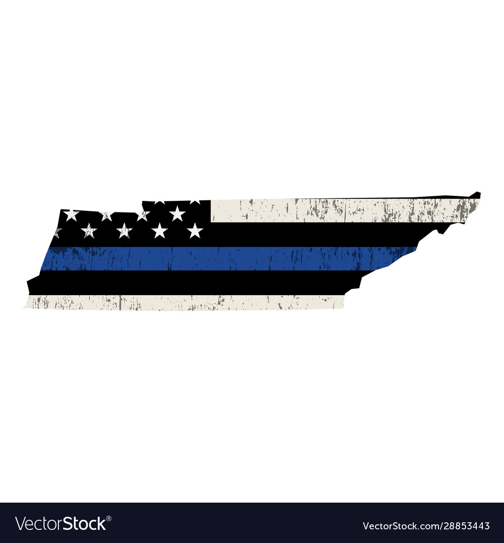 State tennessee police support flag