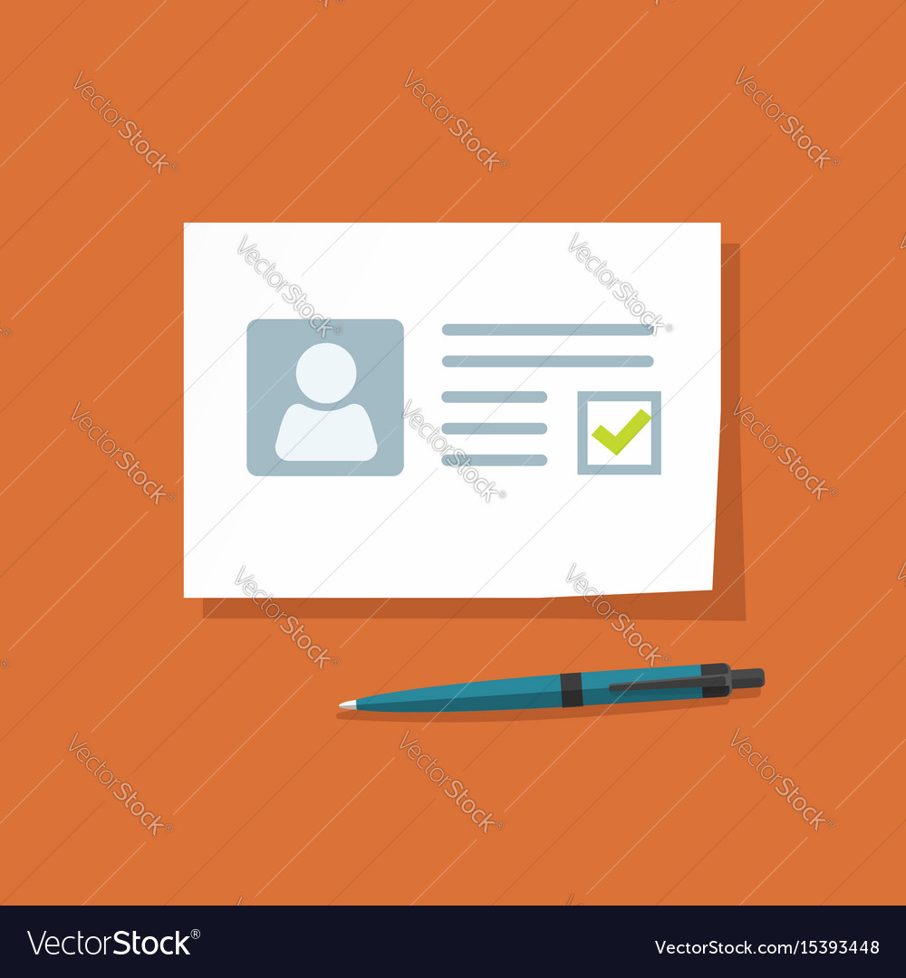 Document with approved checkmark vector image