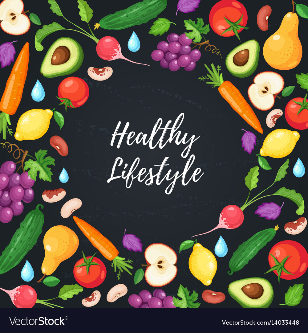 Healthy eating poster vector image