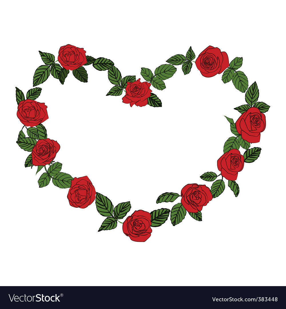 Heart rose vector image