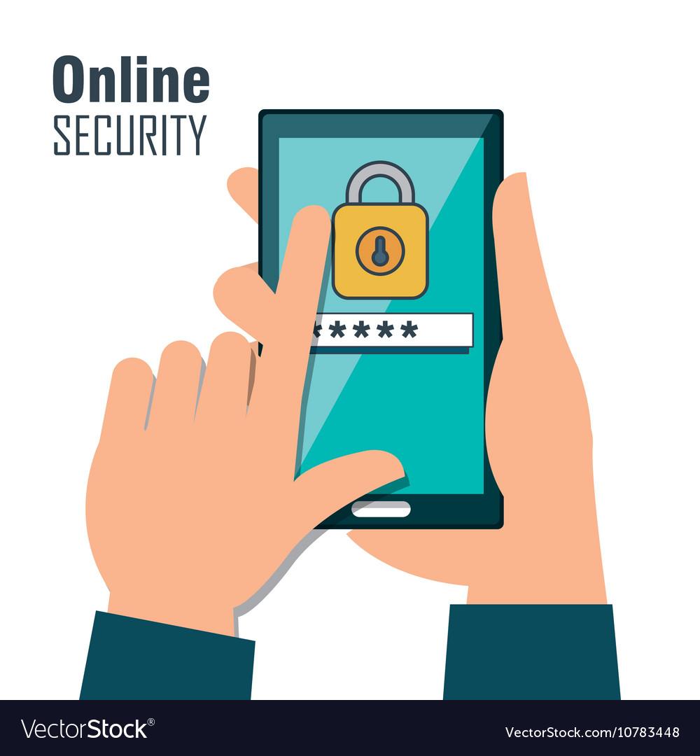 Online security password lock design isolated
