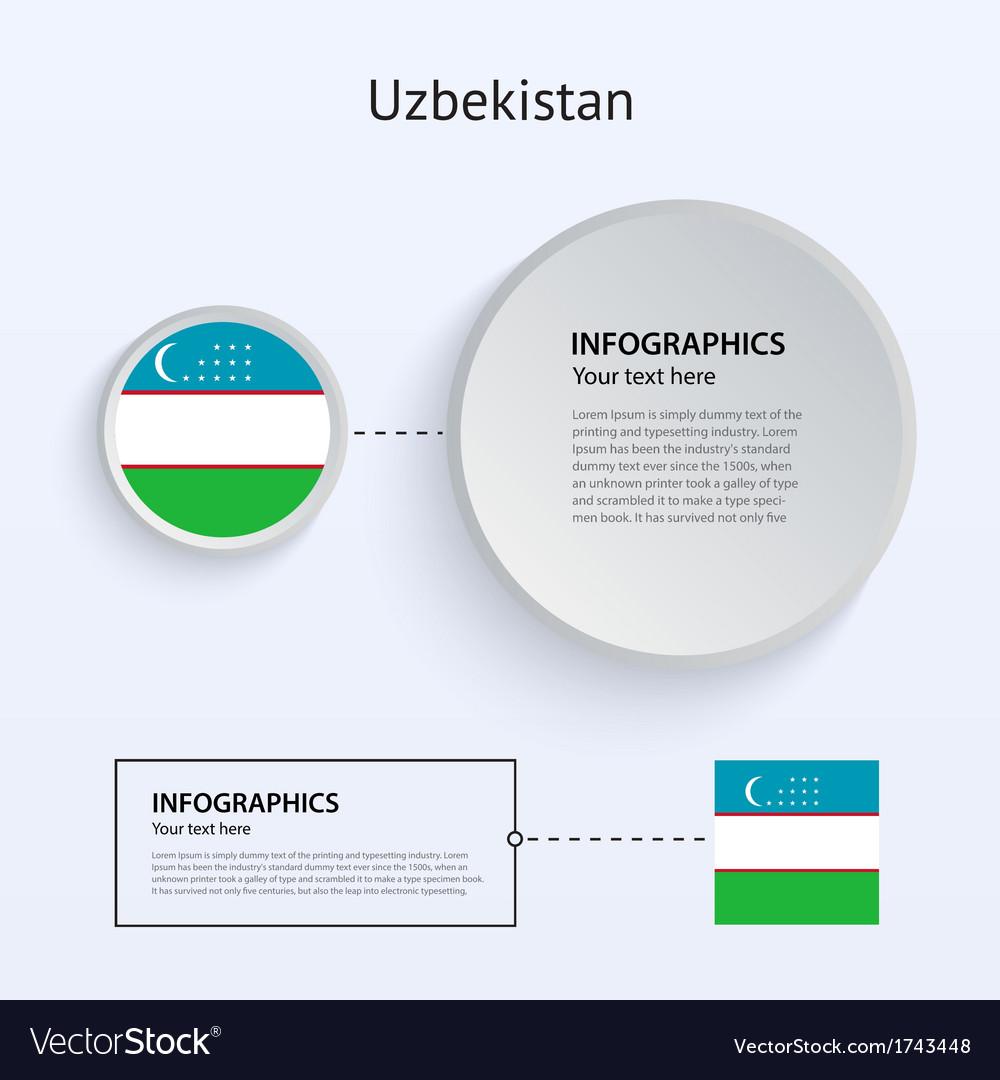 Uzbekistan Country Set of Banners