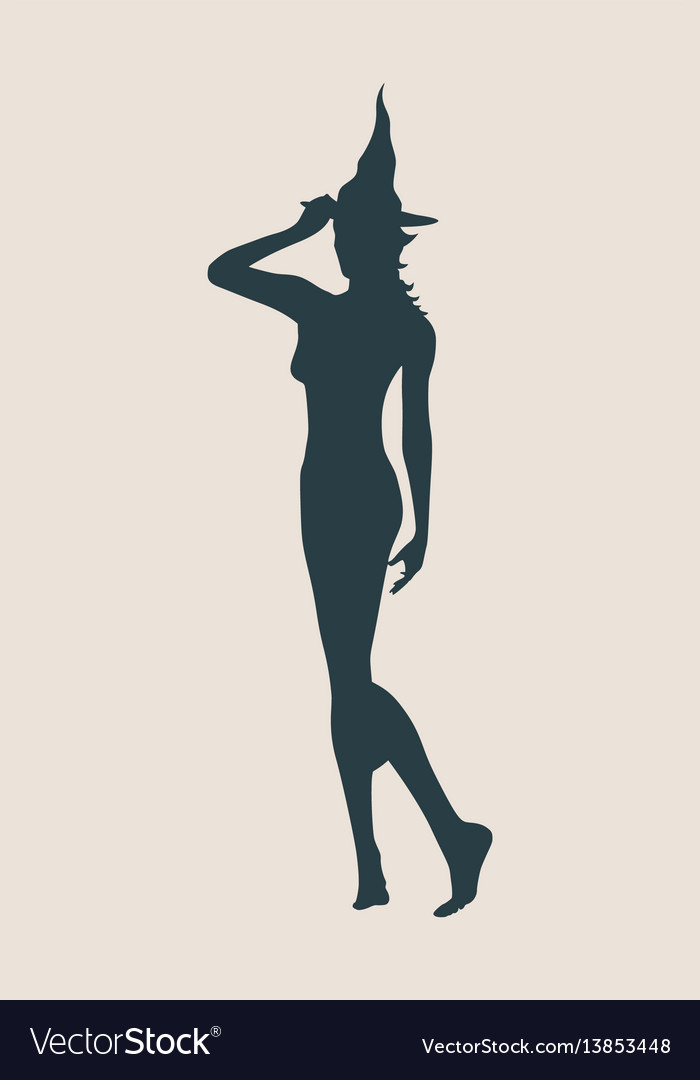 Young witch icon witch silhouette