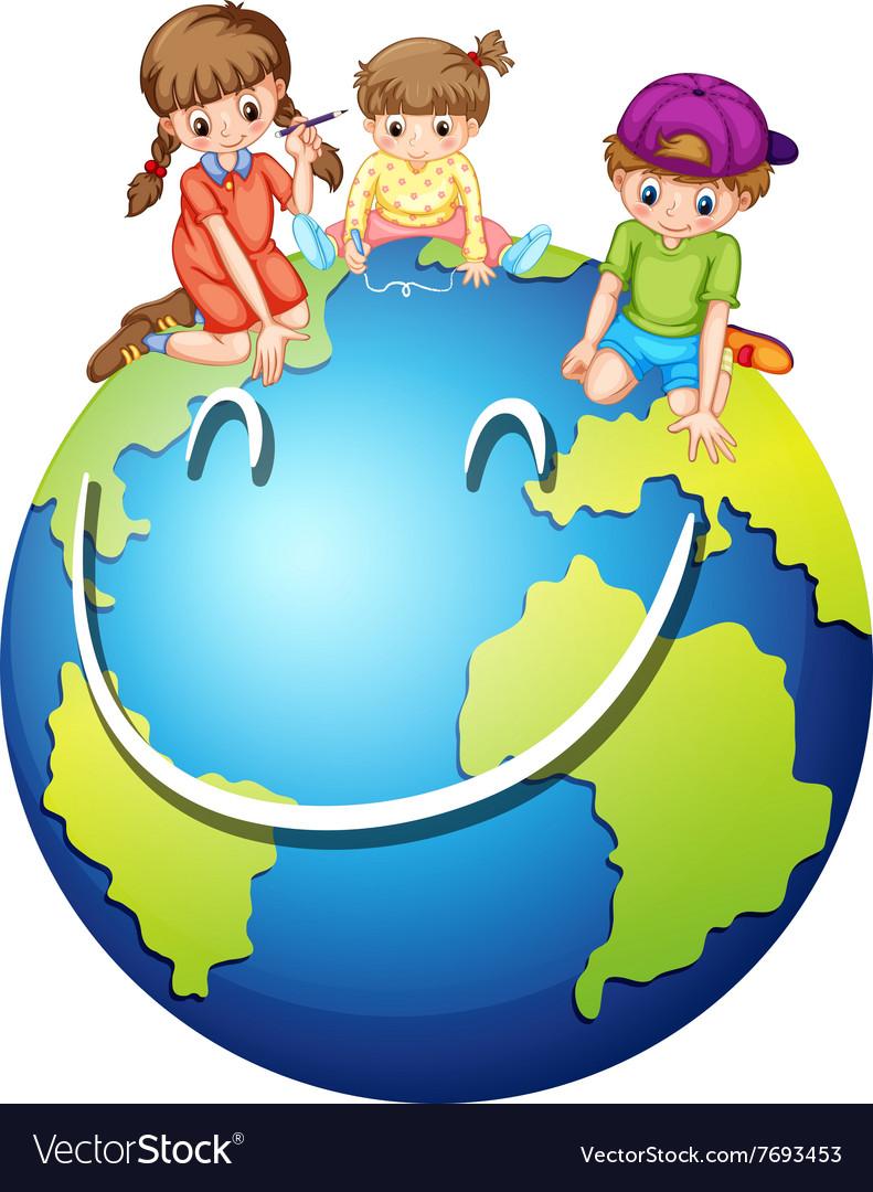 Children and happy world