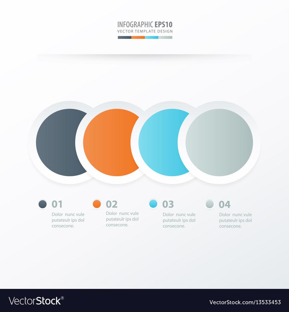 Circle overlap infographic orange blue gray