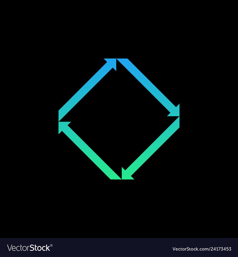 Creative symmetrical arrows logo icon isolated on