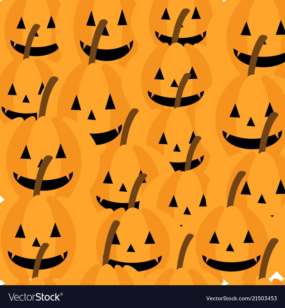 Cute pumpkin seamless pattern