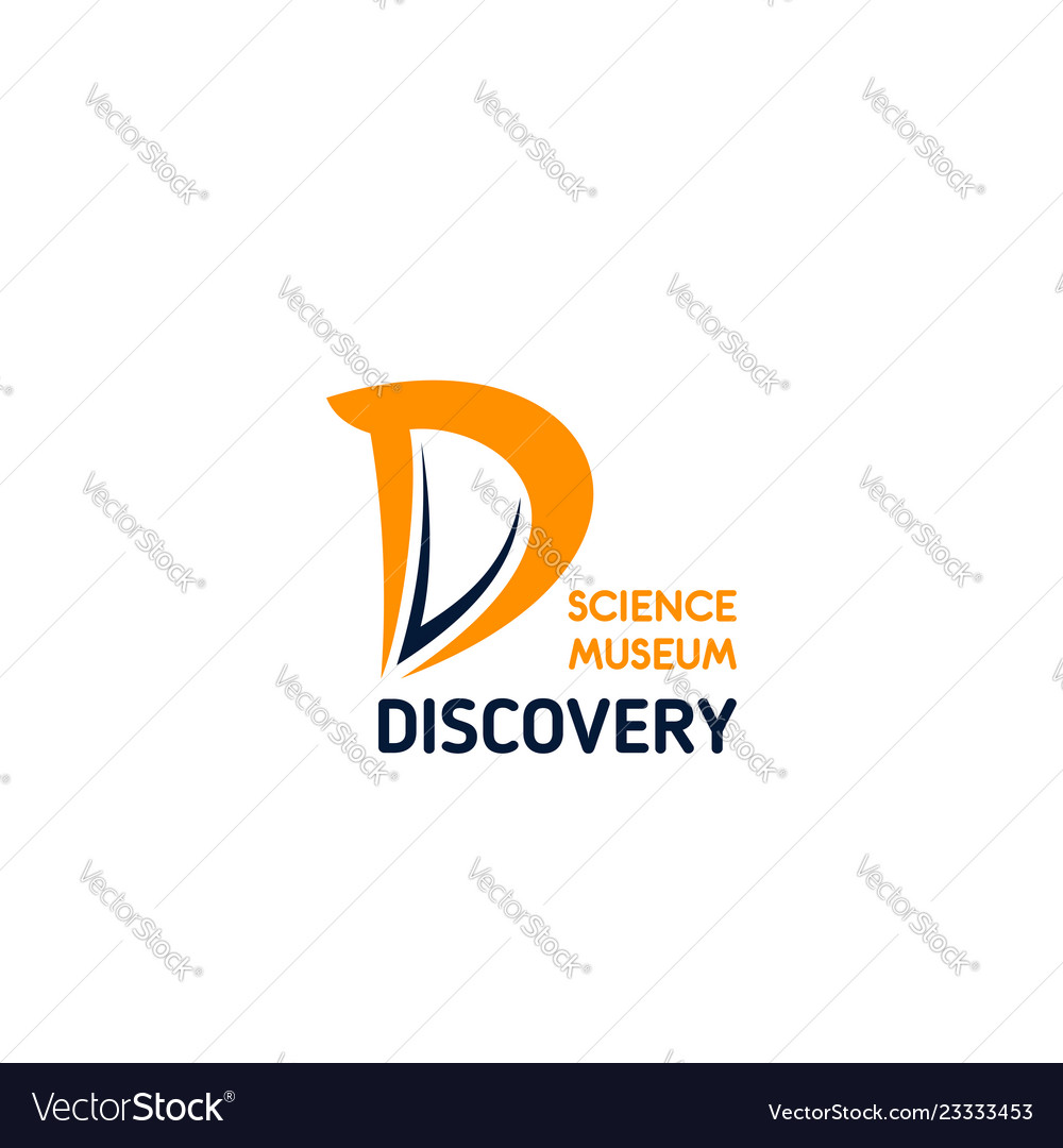 Discovery science museum letter d icon