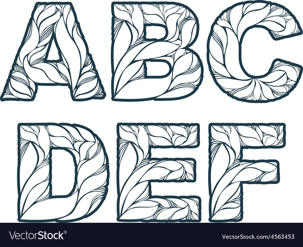 Herbal style single color beautiful font typeset