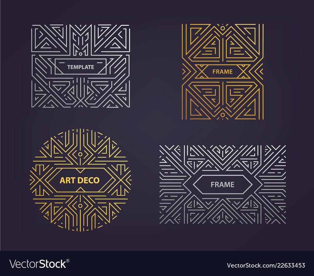 Monogram design elements in trendy vintage