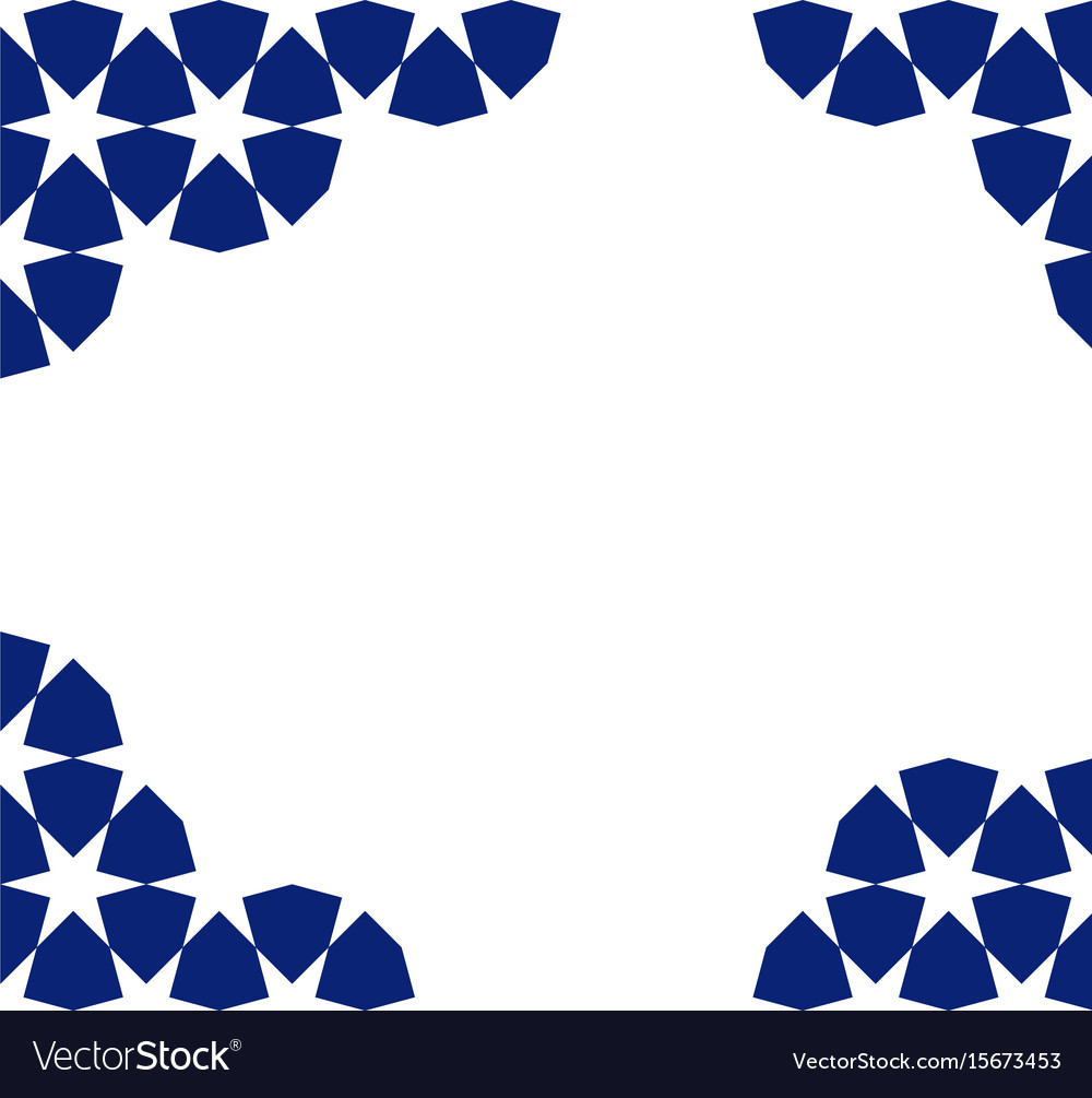 moroccan mosaic template royalty free vector image