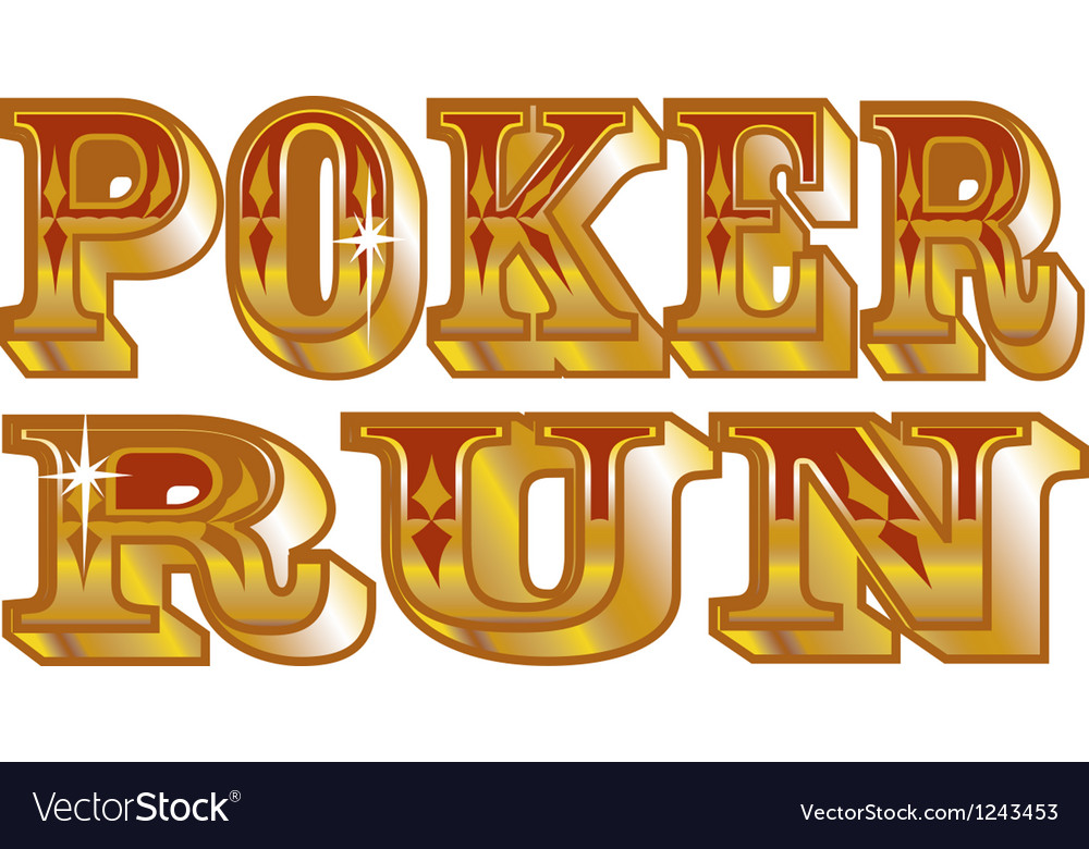 Poker run vector image