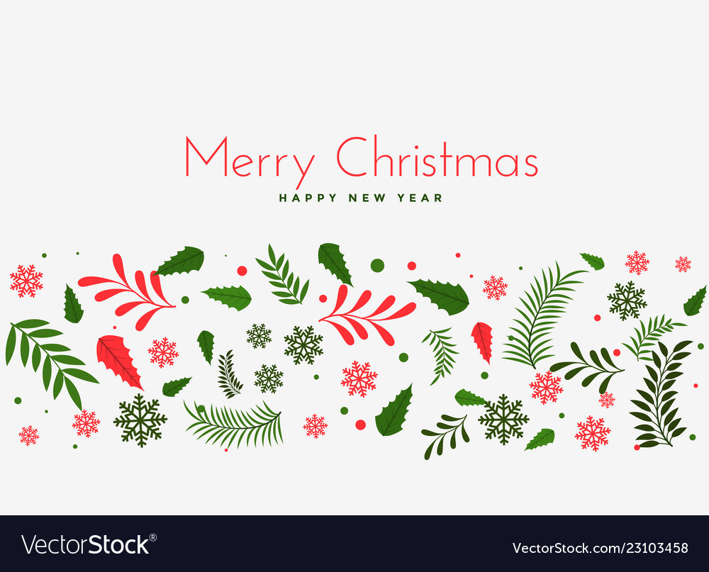 Christmas Leaves.Beautiful Christmas Leaves Decoration Background