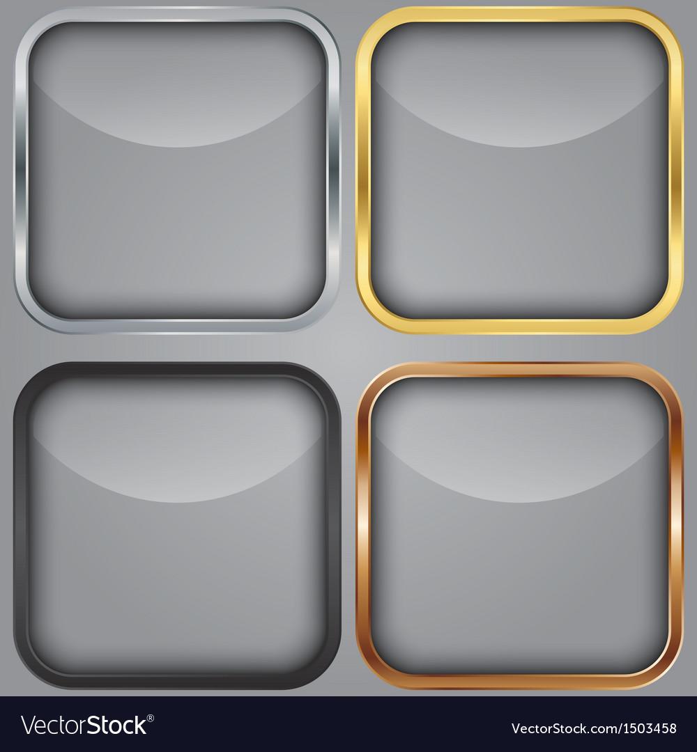 Blank app icons set