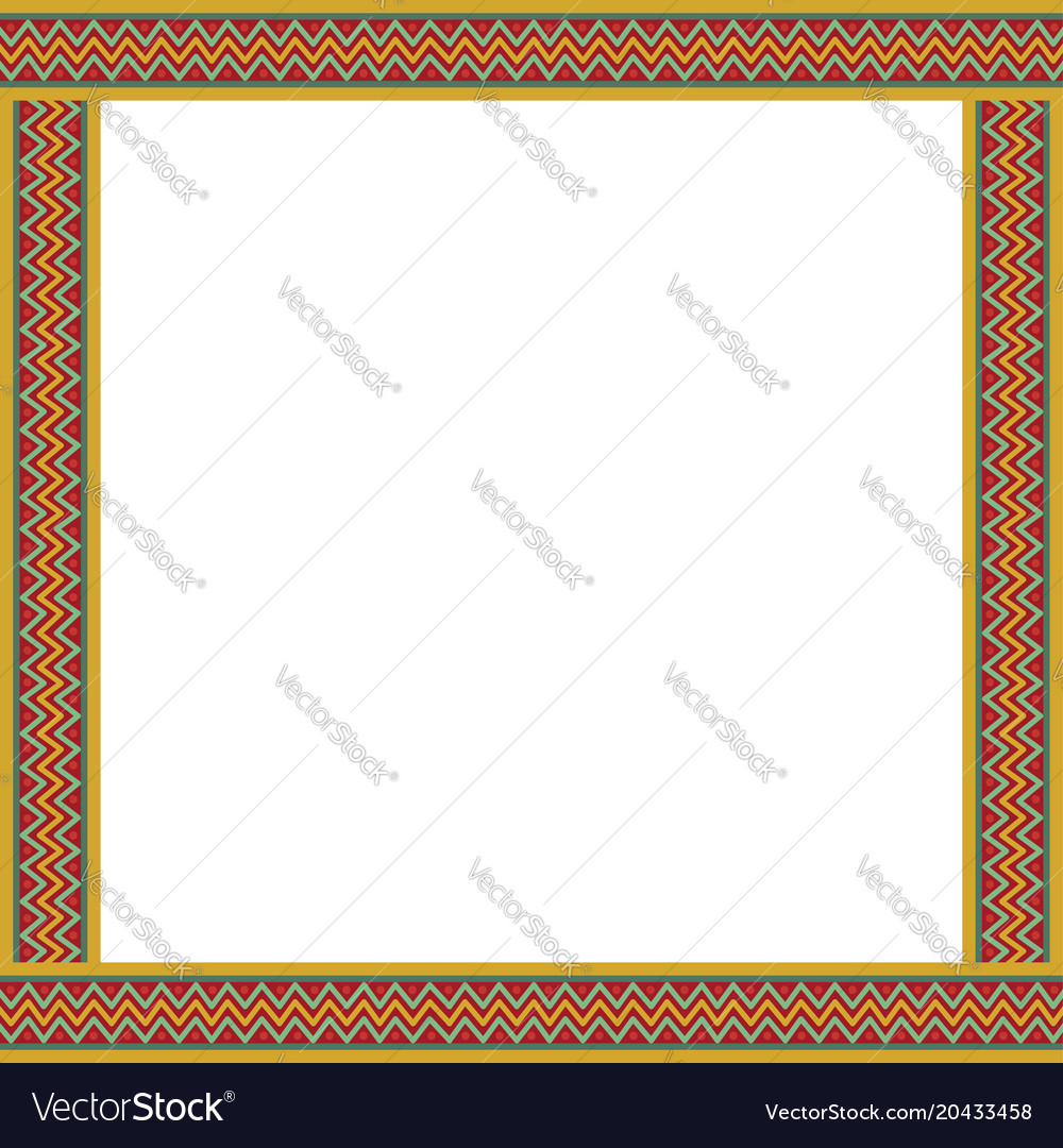 cute christmas or new year border with zig zag vector image