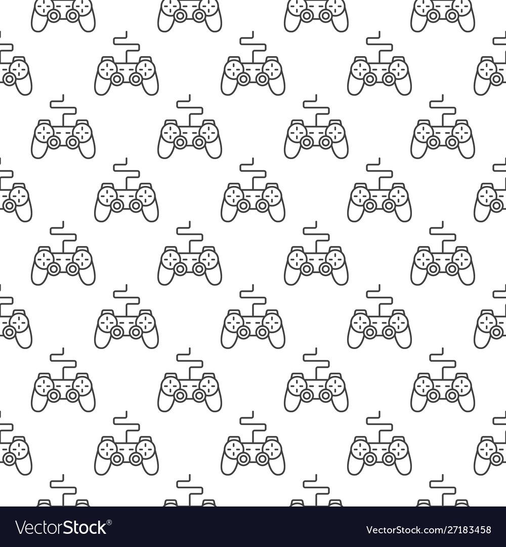 Gamepad pattern gaming controller seamless