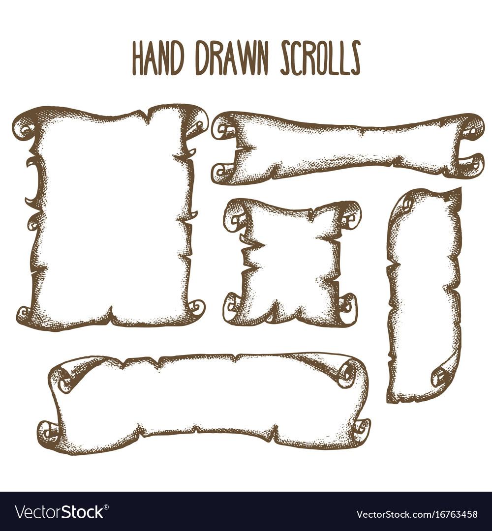 Hand drrawn scrolls