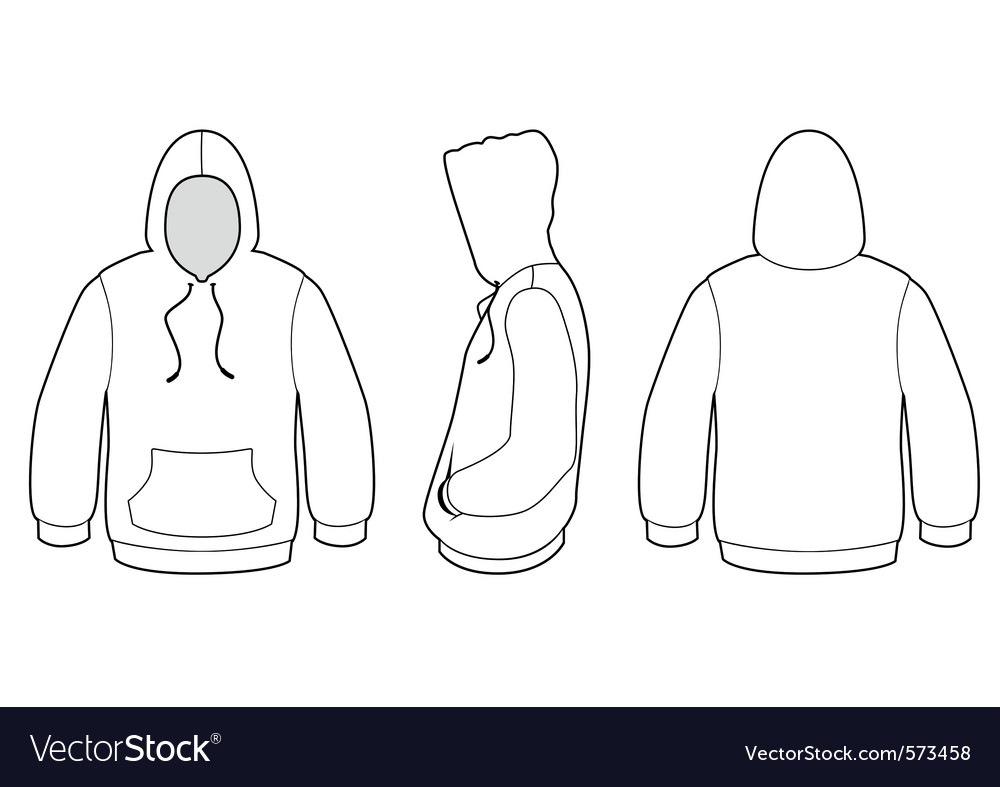 Hooded sweater template
