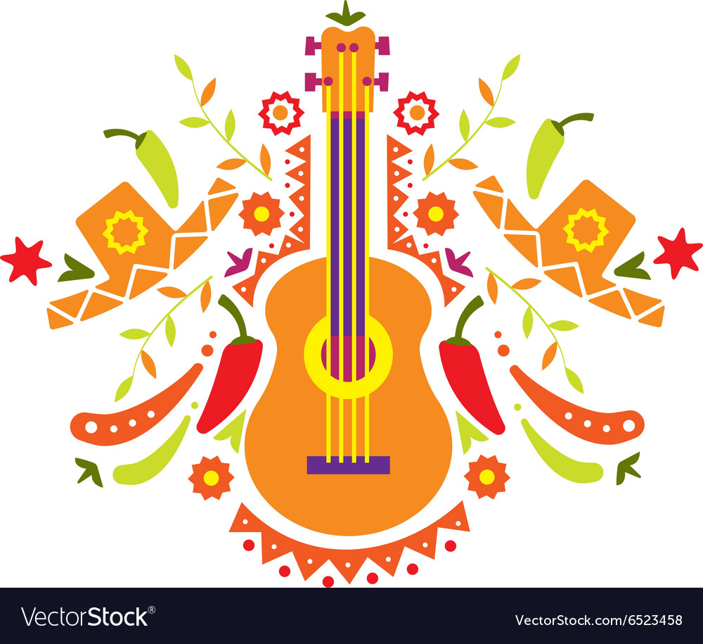 Mexia guitar and various elements