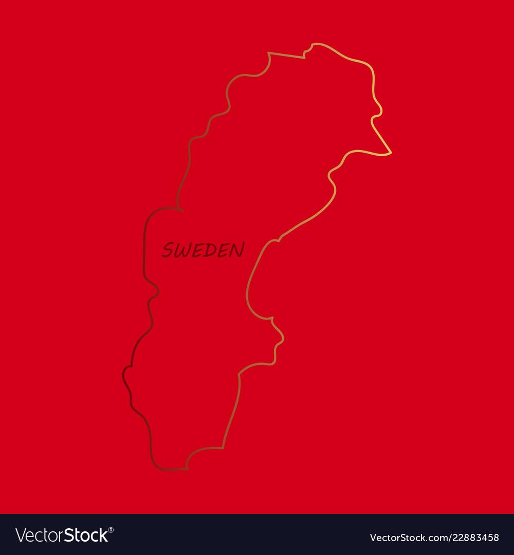 silhouette of scandinavia on map