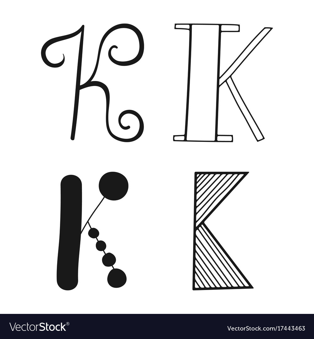 Decorative letters of the alphabet lettering for