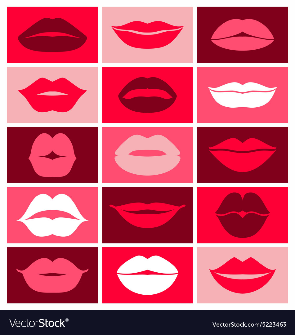 Design of lips icons