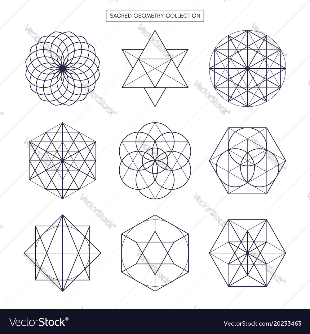 Sacred geometry original outline non expanded