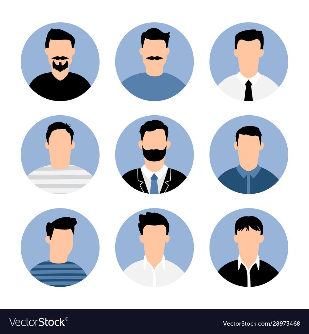 Blue men avatars