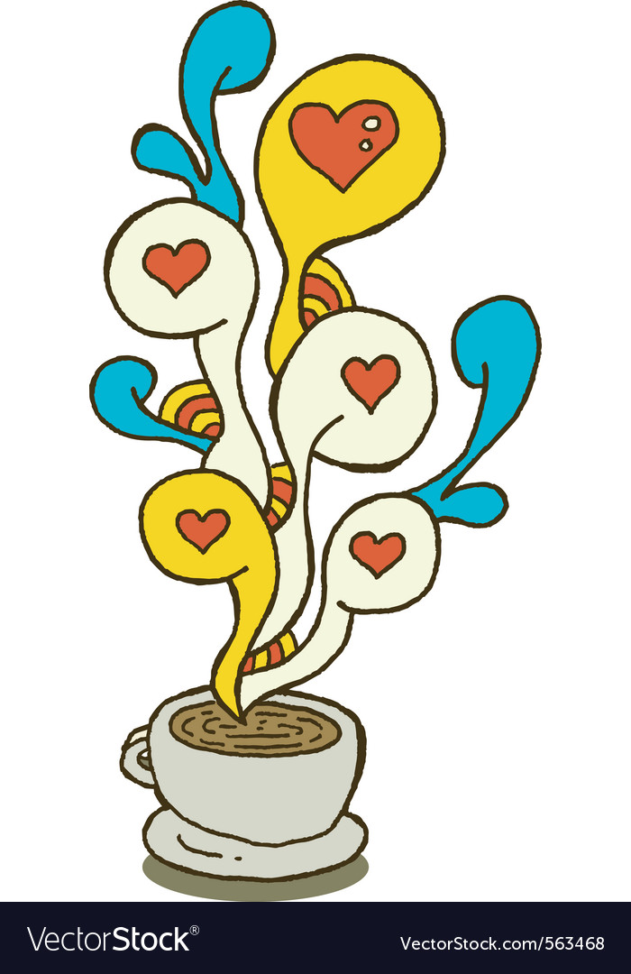 Coffee cup series love vector image
