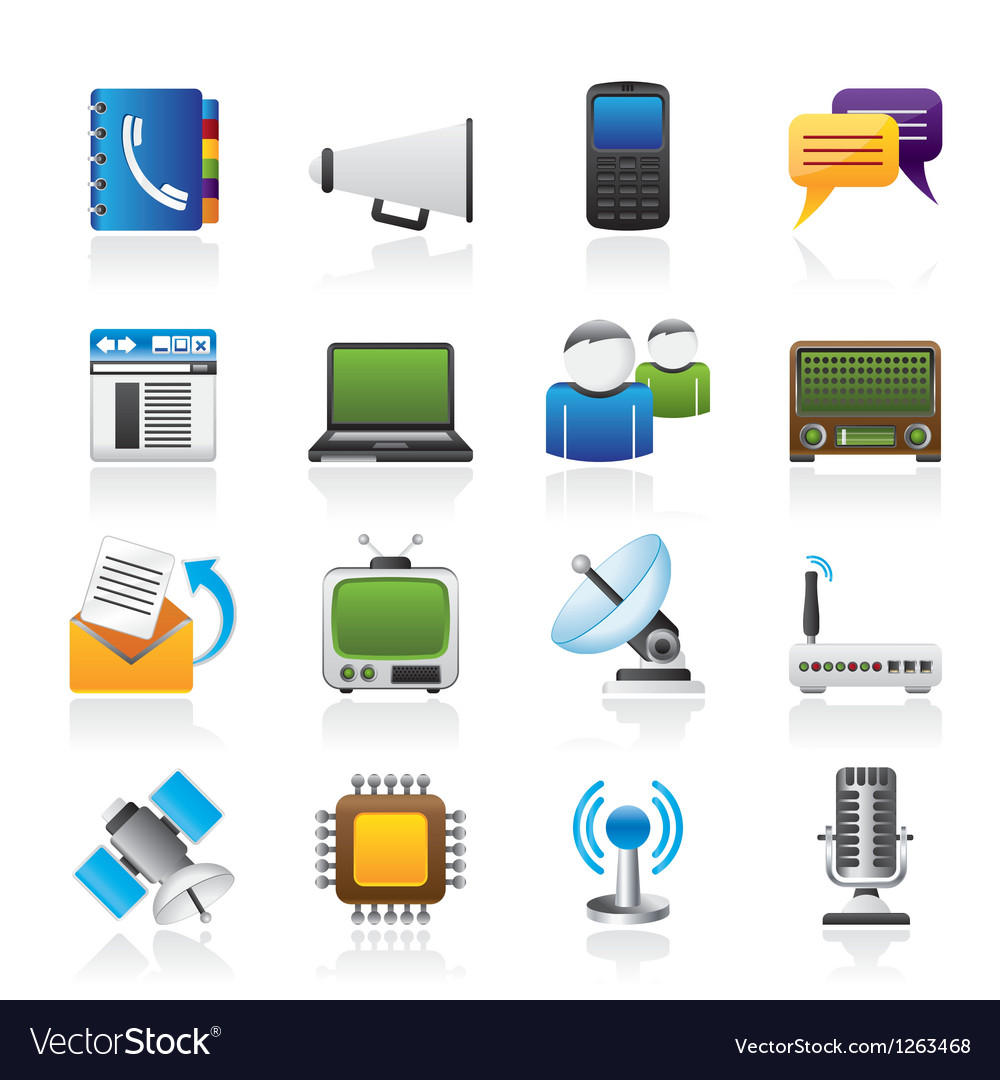 Connection and technology icons
