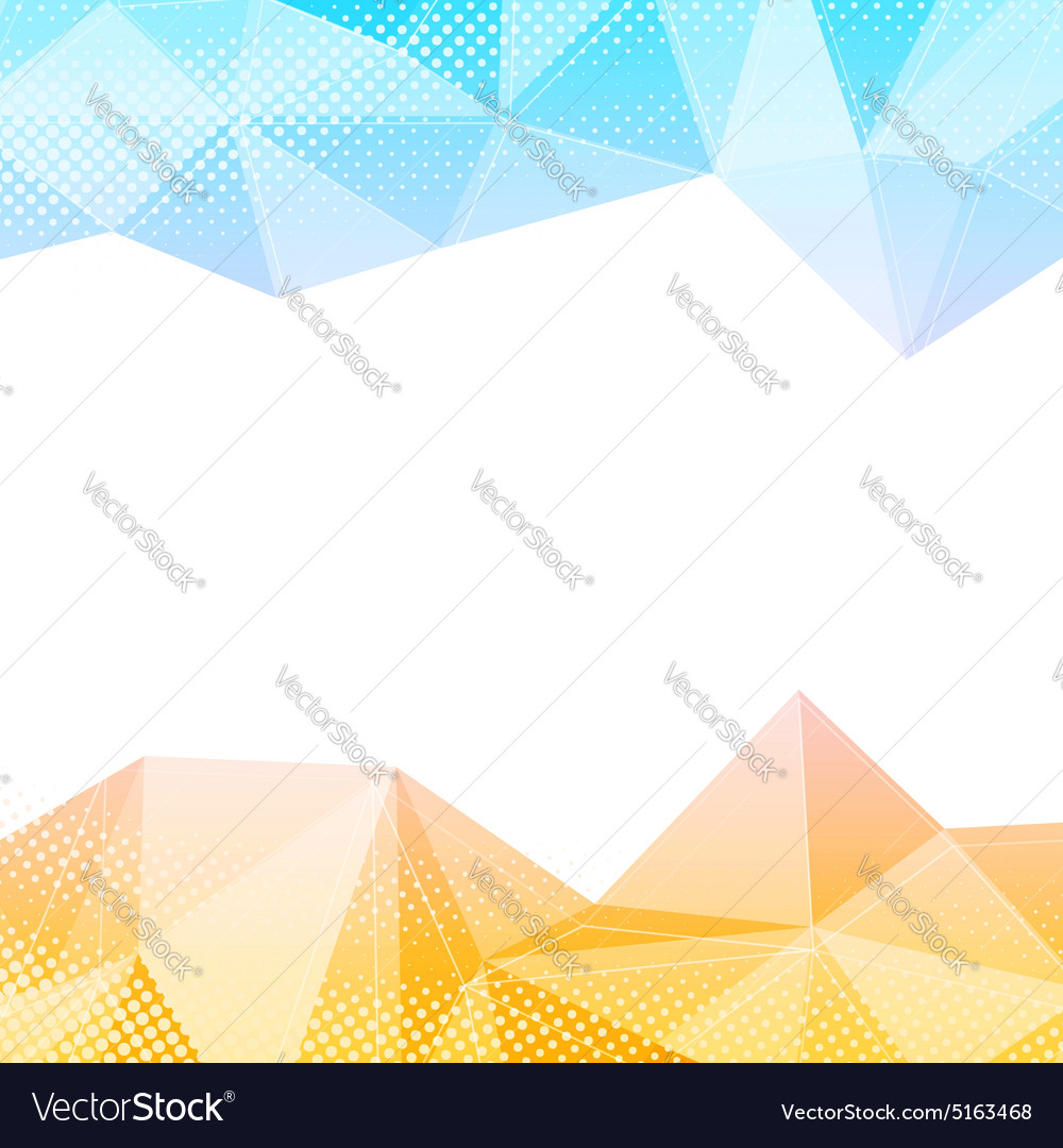 Crystal structure border bright colorful