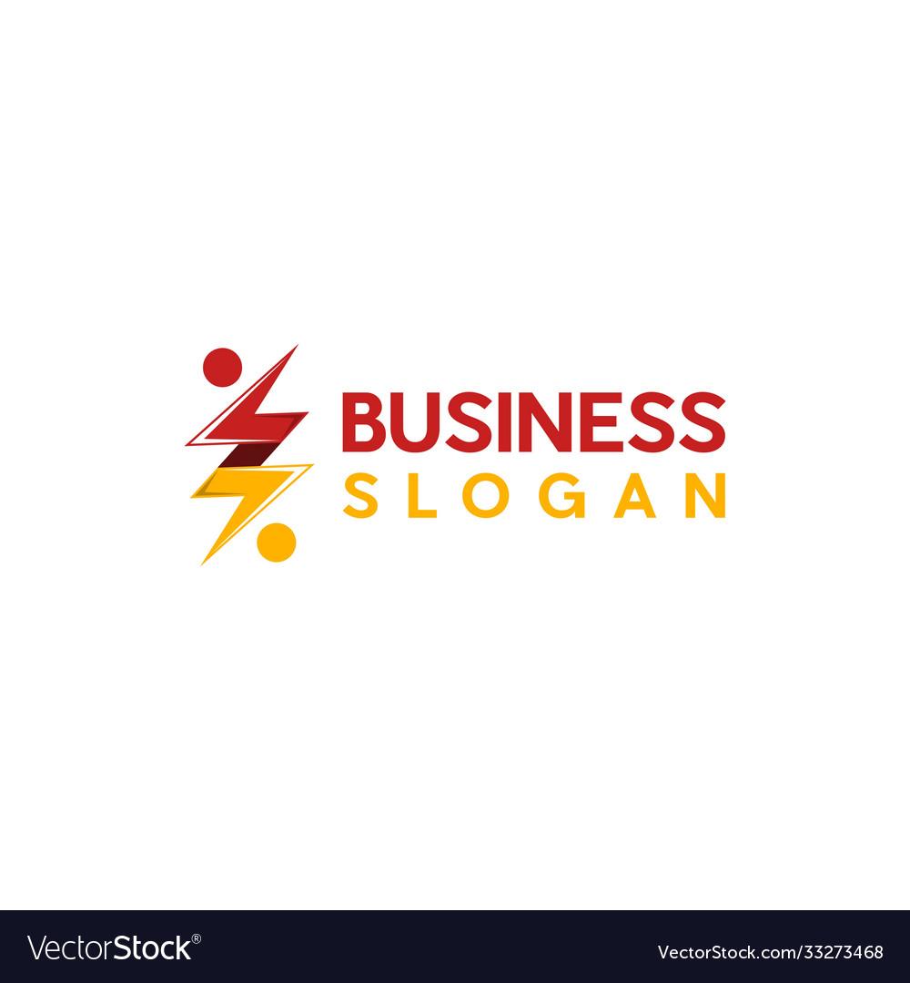 Human Bolt Thunder Creative Business Logo Vector Image