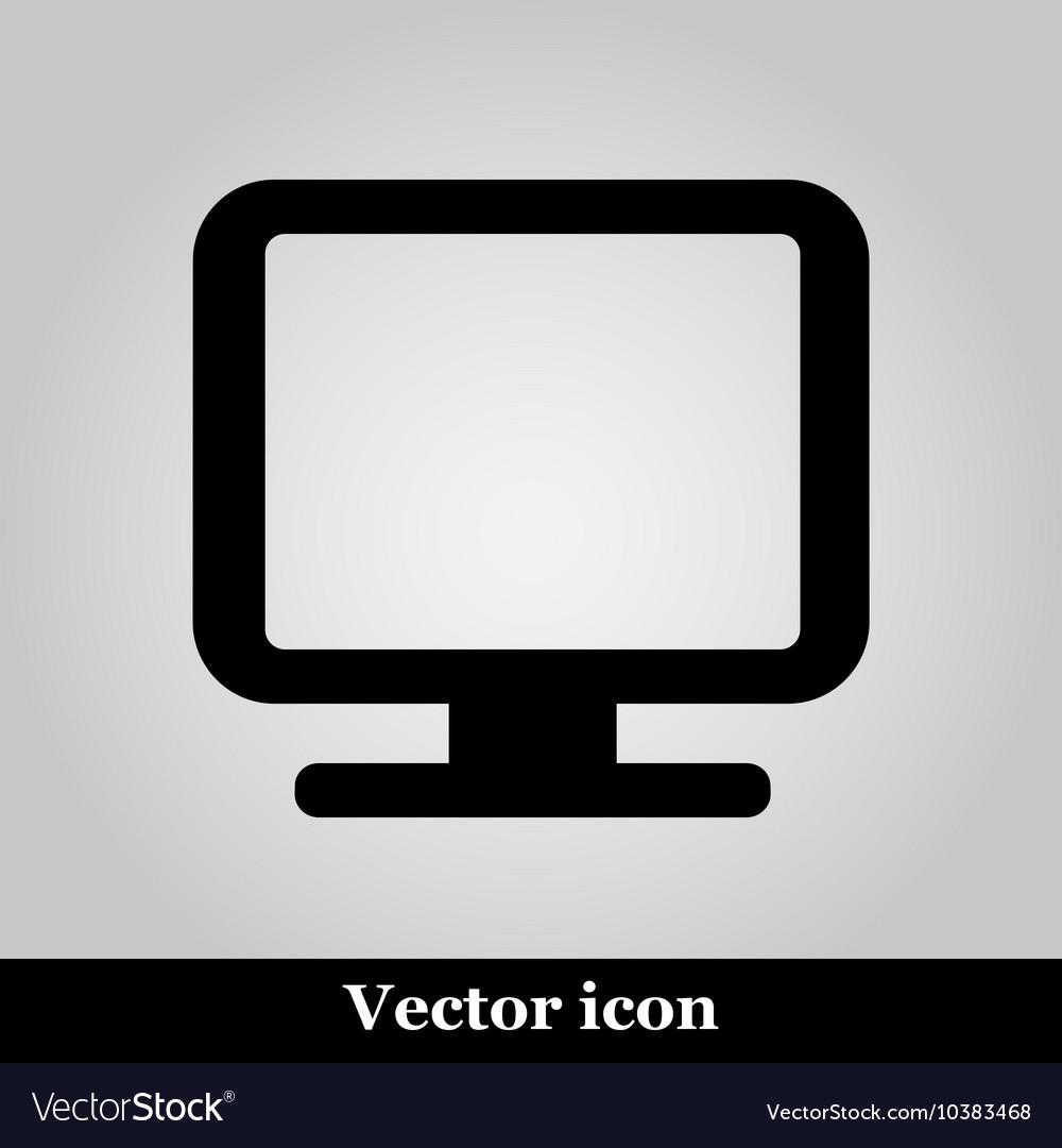 Monitor icon isolated on back