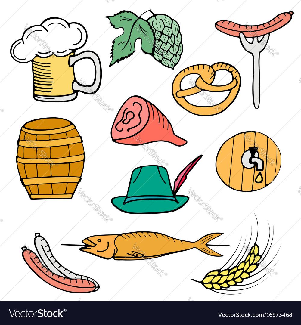 Oktoberfest national german festival set of a vector image