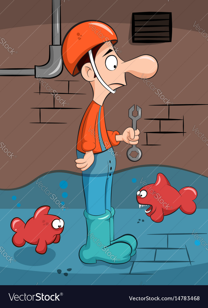 Plumber solves the problem with fish