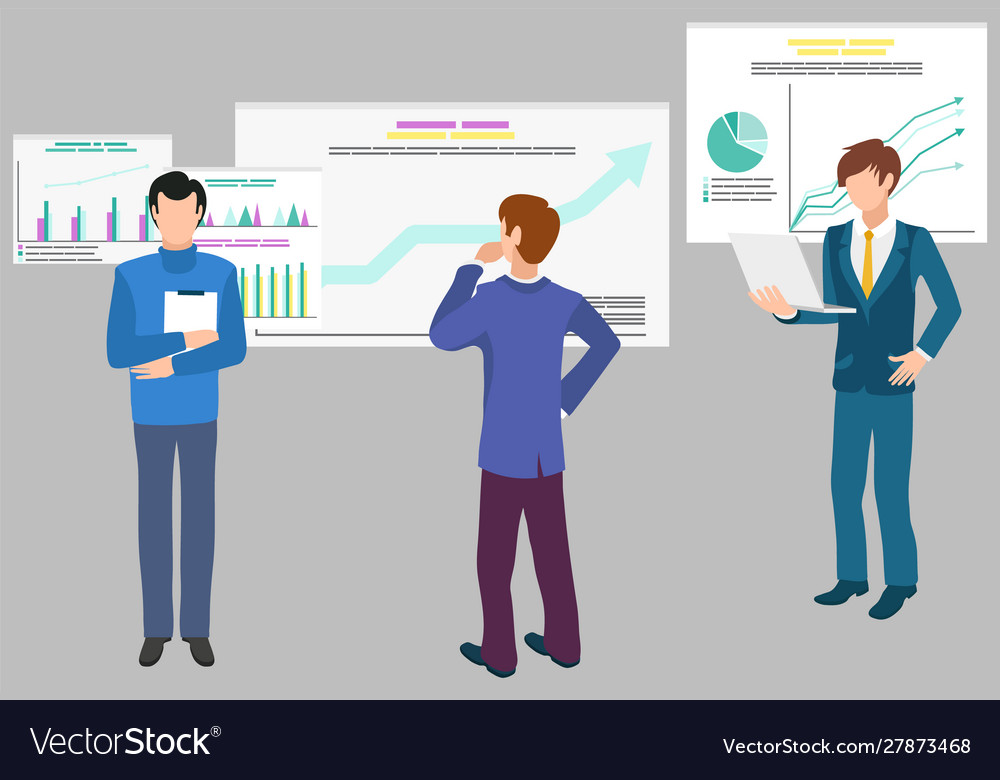 Teamwork data analytics infographics and diagrams