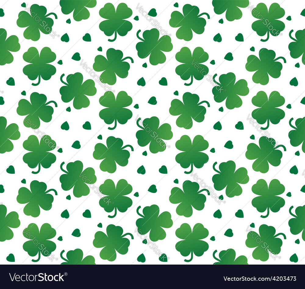 Bright seamless texture of leaves clover