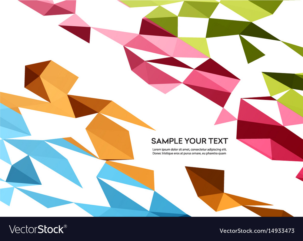 Color abstract geometric banner with
