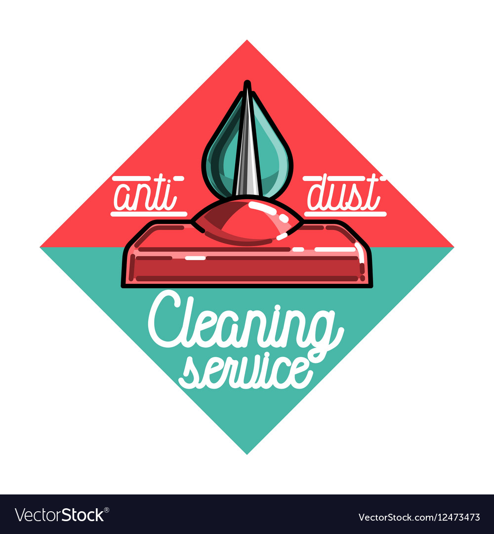 Color vintage cleaning service emblem